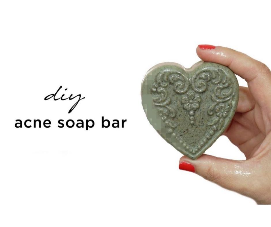 DIY ACNE TREATMENT FACIAL SOAP BAR