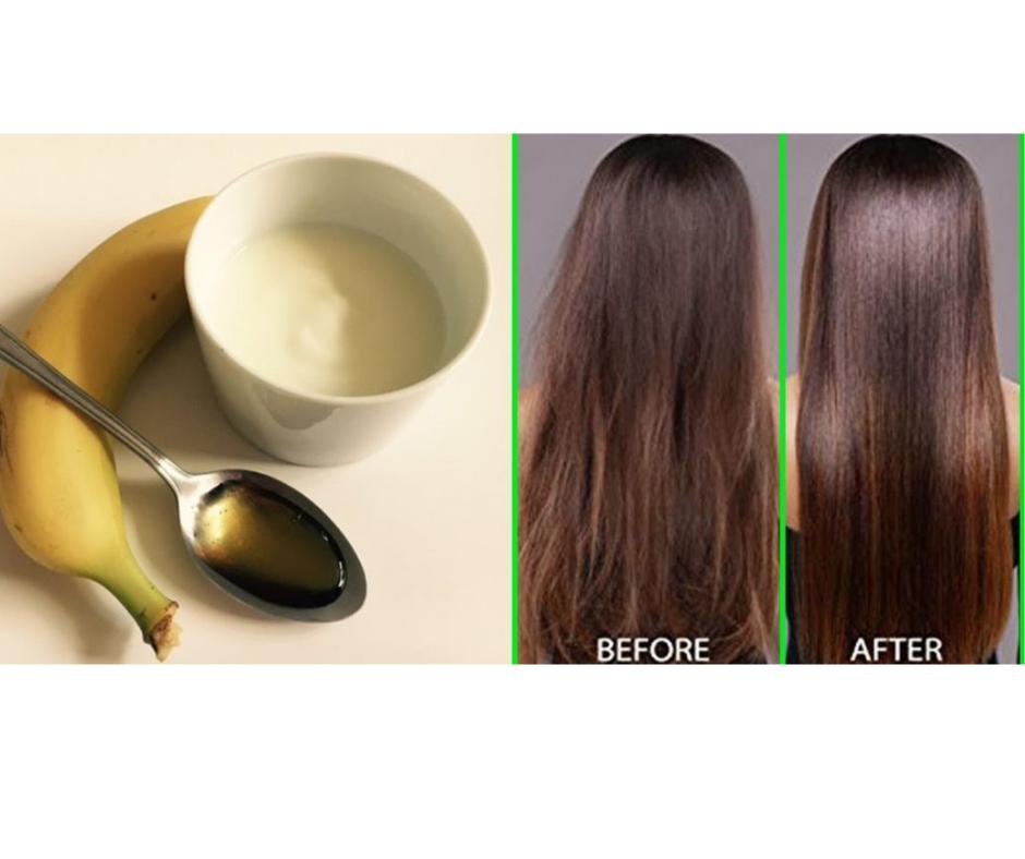 DIY BANANA HAIR MASK FOR SPLIT ENDS